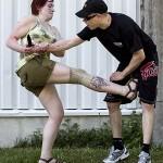 Jasmin Aarnio taltutti puukolla uhitelleen hyökkääjän napakalla potkulla nivusiin