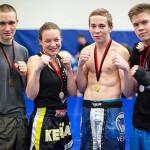 Espoon Kehähait osallistui isännöimiinsä potkunyrkkeilyn kansallisiun kisoihin neljän ottelijan voimin