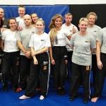 Practitioner 2 -tason suoritti kaikkiaan 12 krav magan harjoittelijaa