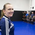 Camilla Marjamäki ohjasi alueleirin Suomen Kamppailuopistolla