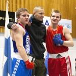 Theo Kolehmainen (vas) iski hopealle ensimmäisessä miesten TUL-turnauksessaan