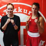 Tiia ja Tiia-Mari nyrkkeilivät hienosti lauantaina